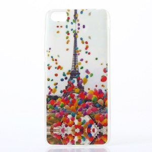 IMD Patterned TPU Protective Cover for Xiaomi Mi 5 - Colorful Balloons and Eiffel Tower