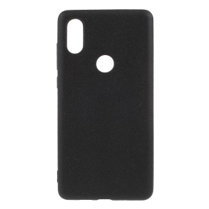 For Xiaomi Mi Mix 2s Double-sided Matte TPU Mobile Phone Cover - Black