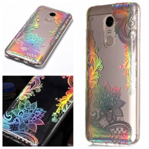 Colorful Laser Carving Patterned TPU Back Case for Xiaomi Redmi Note 5 (12MP Rear Camera) / Redmi 5 Plus (China) - Laser Flower