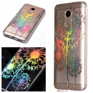 Colorful Laser Carving Patterned TPU Protective Case for Xiaomi Redmi Note 5 (12MP Rear Camera) / Redmi 5 Plus (China) - Dandelion