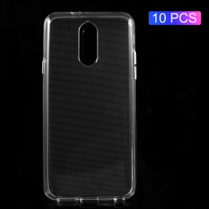 10 PCS/Set Transparent Soft TPU Back Phone Cases for LG Q7 with Non-slip Inner - Transparent
