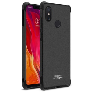 IMAK Skin Feel Anti-drop TPU Case + Explosion-proof Screen Film for Xiaomi Mi 8 SE (5.88-inch) - Matte Black
