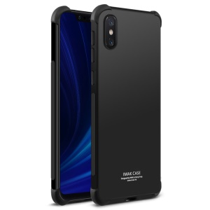 IMAK Silky Anti-drop TPU Soft Back Case + Screen Protector Film for Xiaomi Mi 8 Explorer Edition - Metal Black