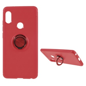 Metal Finger Ring Kickstand TPU Mobile Phone Shell for Xiaomi Redmi Note 5 Pro (Dual Camera) / Redmi Note 5 (China) - Red