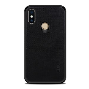 MOFI Bright Shield Series Cloth Coated PC TPU Hybrid Case for Xiaomi Redmi Note 5 (12MP Rear Camera) / Redmi 5 Plus (China) / Xiaomi Redmi Note 5 Pro (Dual Camera) / Redmi Note 5 (China) - Black