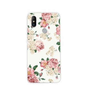 Pattern Printing TPU Back Case for Xiaomi Redmi S2 / Y2 - Flowers Pattern
