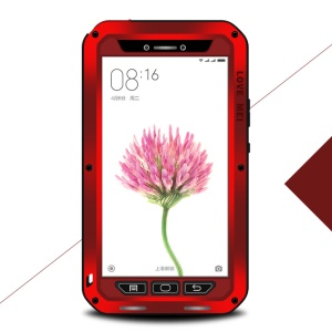 LOVE MEI Shockproof Dropproof Dustproof Cover for Xiaomi Mi Max - Red