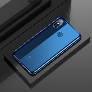 BASEUS Shining Series Plated TPU Shell for Xiaomi Mi 8 (6.21-inch) - Blue