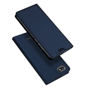 DUX DUCIS Skin Pro Series Card Holder Stand Leather Protective Case for Xiaomi Redmi 6A - Dark Blue