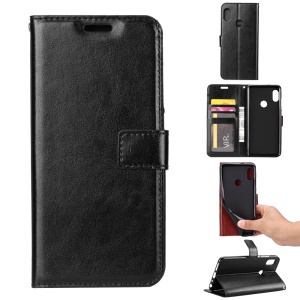 Crazy Horse Texture Wallet Stand Leather Case for Xiaomi Mi A2 Lite / Redmi 6 Pro - Black