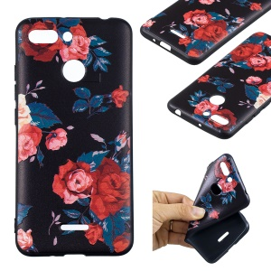 For Xiaomi Redmi 6 (Dual Camera: 12MP+5MP) Embossment Patterned TPU Phone Cover Shell - Peony