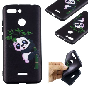 For Xiaomi Redmi 6 (Dual Camera: 12MP+5MP) Embossment Patterned TPU Flexible Mobile Casing - Panda and Bamboo