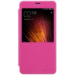 NILLKIN Sparkle Series for Xiaomi Redmi Pro Smart View Window Flip Leather Cover - Red