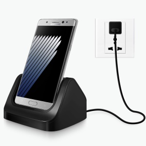 Type-C Dock Station Charger Cradle Holder for Samsung Galaxy S8+ G955 / S8 G950 with Cable - Black