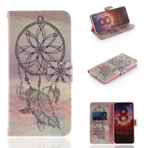 Pattern Printing Stand Leather Wallet Case for Xiaomi Mi 8 (6.21-inch) - Dream Catcher