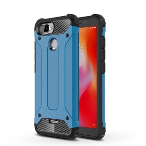 Armor Guard Plastic + TPU Hybrid Mobile Accessory Cover for Xiaomi Redmi 6 (Dual Camera: 12MP+5MP) - Baby Blue