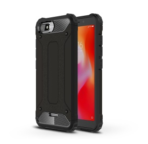 Armor Guard Plastic + TPU Hybrid Phone Case for Xiaomi Redmi 6A (Single 12MP Rear Camera) - Black