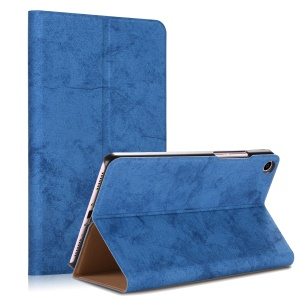 Solid Color PU Leather Protective Smart Cover Case with Stand for Xiaomi Mi Pad 4 - Blue