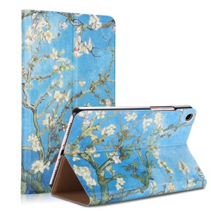 Pattern Printing Stand Leather Smart Case for Xiaomi Mi Pad 4 - Wintersweet