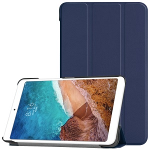 Leather Smart Cover with Tri-fold Stand for Xiaomi Mi Pad 4 - Dark Blue
