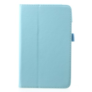 Litchi Texture PU Leather Stand Protective Shell Case for Xiaomi Mi Pad 4 - Baby Blue