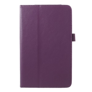 Litchi Texture PU Leather Stand Tablet Shell Cover for Xiaomi Mi Pad 4 - Purple