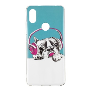 Pug Wearing Headphone