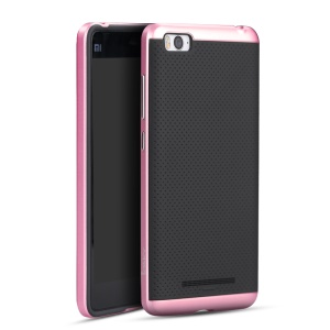 IPAKY PC Bumper + Silicone Back Cover for Xiaomi Mi 4I / 4C - Pink