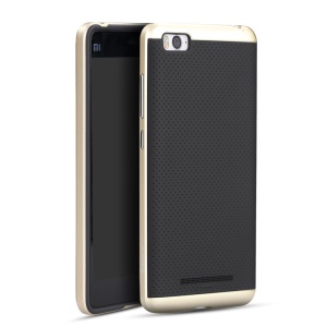 IPAKY PC Bumper + Silicone Protection Cover for Xiaomi Mi 4I / 4C - Gold