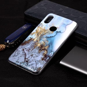 Pattern Printing Marble IMD TPU Phone Shell for Xiaomi Redmi S2 / Redmi Y2 - Lava Pattern