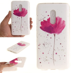 Soft TPU IMD Patterned Shell for Xiaomi Redmi Note 4 - Red Flower