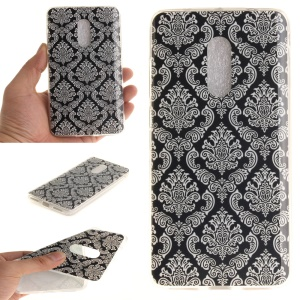 Flexible TPU IMD Patterned Case for Xiaomi Redmi Note 4 - Damask Flower