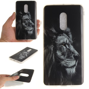 IMD Patterned Soft TPU Back Case for Xiaomi Redmi Note 4 - Lion