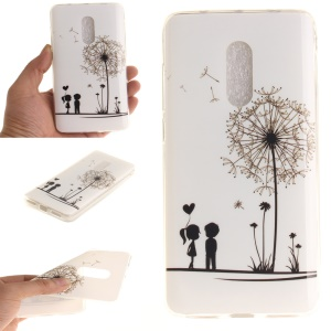IMD Patterned Soft TPU Gel Back Cover for Xiaomi Redmi Note 4 - Lovers and Dandelion