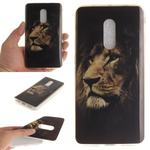For Xiaomi Redmi Note 4 Soft TPU IMD Patterned Cover - Brown Lion