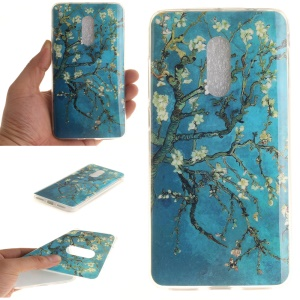 For Xiaomi Redmi Note 4 Soft TPU IMD Patterned Shell - Almond Tree in Blossom