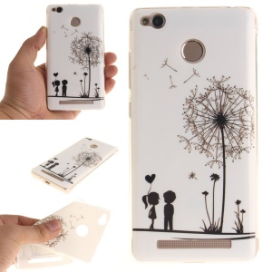 IMD TPU Soft Back Cover for Xiaomi Redmi 3x - Lovers and Dandelion