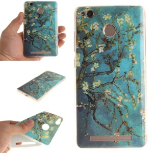 IMD TPU Gel Soft Cover for Xiaomi Redmi 3x - Almond Tree in Blossom