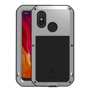 LOVE MEI Dust-proof Shock-proof Splash-proof Defender Phone Shell for Xiaomi Mi 8 (6.21-inch) - Silver