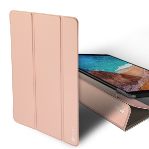 DUX DUCIS Skin Pro Series Tri-fold Stand Smart Leather Cover for Xiaomi Mi Pad 4 - Rose Gold