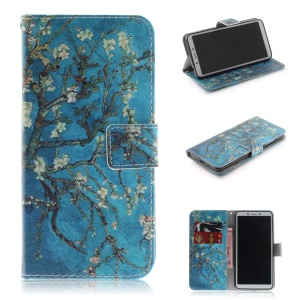 Pattern Printing Wallet Stand Leather Phone Case for Xiaomi Redmi 6A - Wintersweet