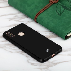 MOMAX Tempered Glass Back + TPU Hybrid Shell Case for Xiaomi Mi 8 (6.21-inch) - Black