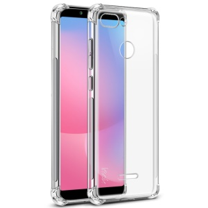 IMAK Skin Feel Anti-drop TPU Shell + Explosion-proof Screen Film for Xiaomi Redmi 6 - Transparent