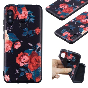 Pattern Printing Embossment Soft TPU Back Cover for Xiaomi Mi A2 Lite / Redmi 6 Pro - Vivid Flowers