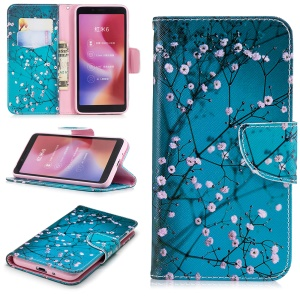 Pattern Printing Wallet Stand Leather Phone Cover for Xiaomi Redmi 6 - Wintersweet