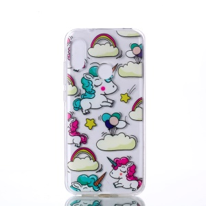 Pattern Printing TPU Back Case for Xiaomi Mi A2 Lite / Redmi 6 Pro - Cloud and Unicorn