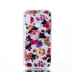 Pattern Printing TPU Mobile Phone Case for Xiaomi Mi A2 Lite / Redmi 6 Pro - Vivid Flowers