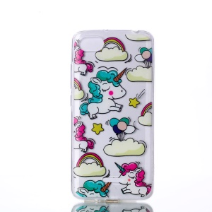 Pattern Printing TPU Cover for Xiaomi Redmi 6A (Single 12MP Rear Camera) - Cloud and Unicorn