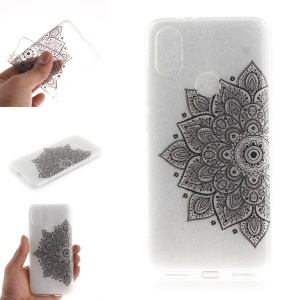 Pattern Printing IMD TPU Gel Case for Xiaomi Mi A2 / Mi 6X - Flower Pattern