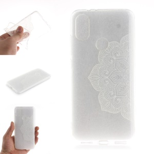 Pattern Printing IMD TPU Soft Case for Xiaomi Mi A2 / Mi 6X - Unique Flower